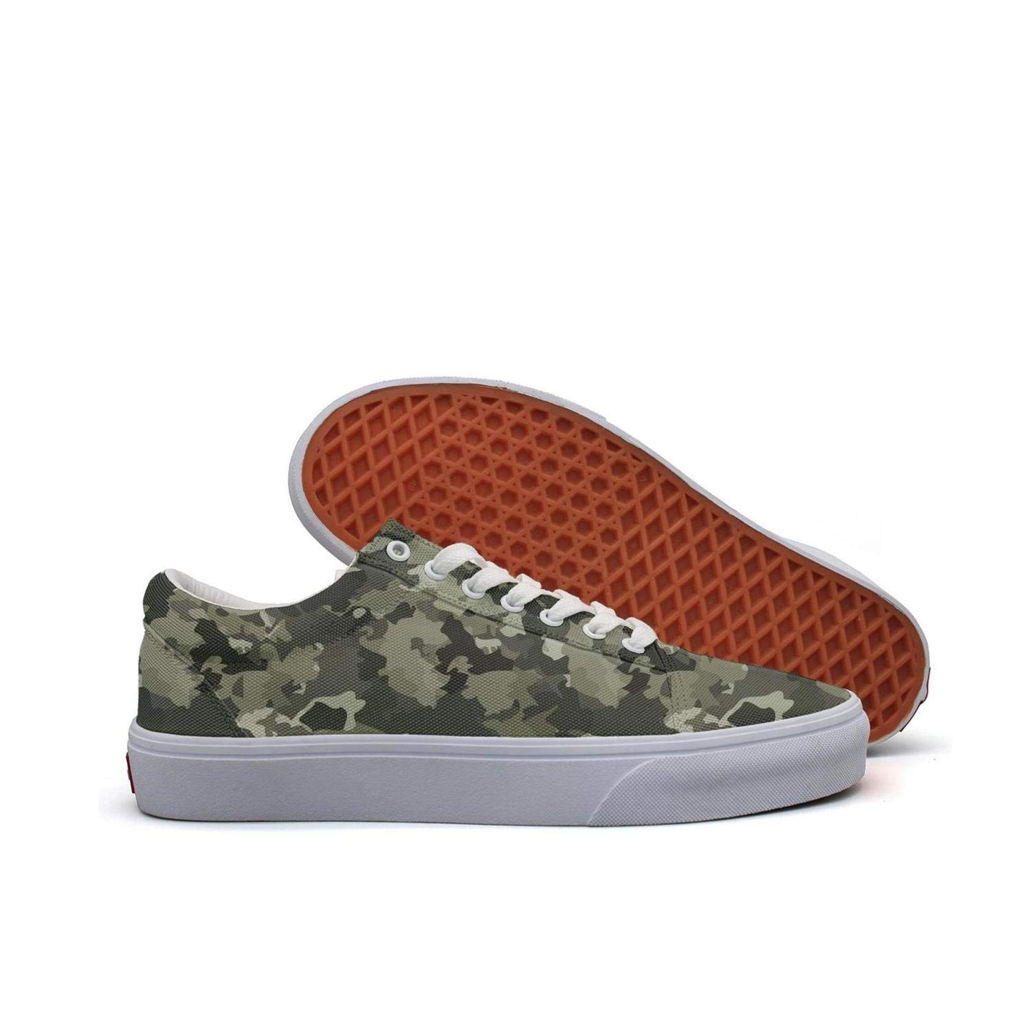 SERXO USA Army Desert camo Skateboard Running Shoes Women Walking Sneakers Wide Width