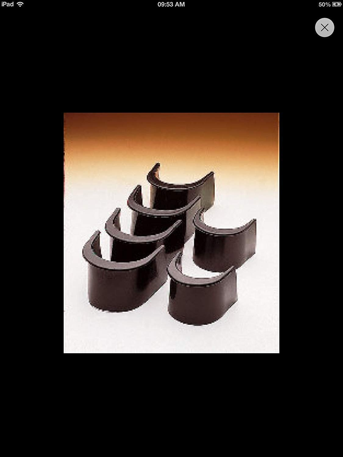 6 x POOL TABLE RUBBER POCKET LINERS FOR AMERICAN STYLE TABLES