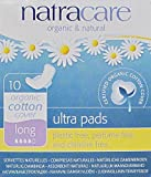 Natracare - Long Ultra Pads with Wings - Organic and Natural - 10 Count - Pack of 3