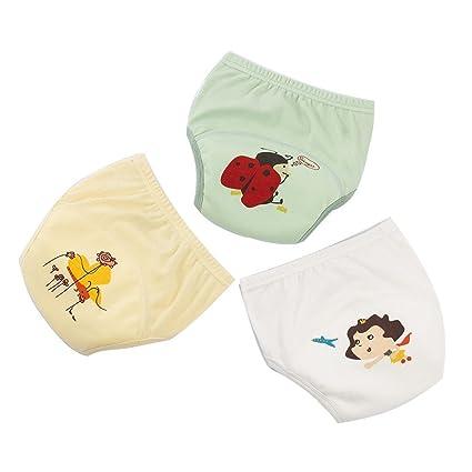 Pantalones de entrenamiento de algodón Ropa interior impermeable niños niñas, bebé lavable bebé pañales cambio