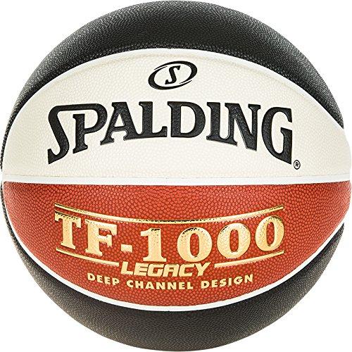 Spalding Lnb TF1000 Legacy Ballon de Basket-Ball Mixte Adulte, Noir/Orange/Blanc, Taille 7 SPAA3 #Spalding 3001501012717