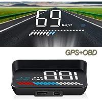 TXYFYP Universale GPS Testa Superiore Display Tachimetro Contachilometri Auto Digitale velocit/à mph sopra Speeding Allarme Orologio per Compatibile con Tutte Le Auto Trucks Moto e Bicicletta