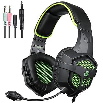 Nuevo Xbox One PS4 Auriculares para Gamers con Micrófono Control del Volumen, SADES SA807 Auriculares