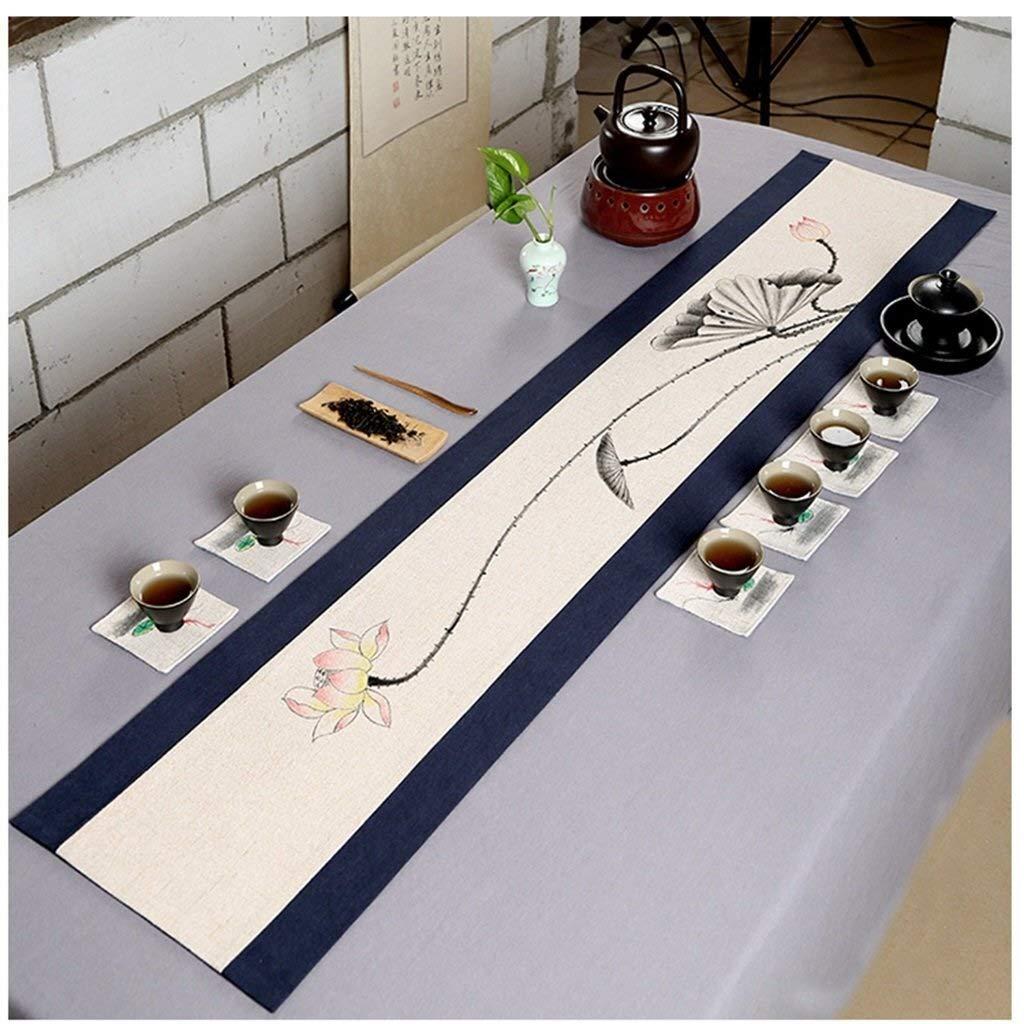 D 30180CM GFF Pur Lin, Drapeaux lavables Drapeaux écharpe Commode (Couleur  lac Bleu, Taille  30 Times; 240cm)