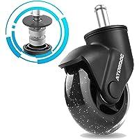 "ATOMDOC Office Chair Caster Wheels, 3"" Newly Lightweight Caster Wheels & Revolutionary Swivel Vertical Axle, Safe…"