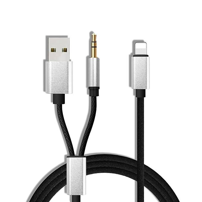Amazon.com: AUX Cable para el iPhone 7,7plus, aggice AUX ...