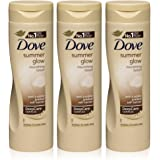 3x Dove Sommer Glow Body Lotion für normale bis dunkle Haut 250ml