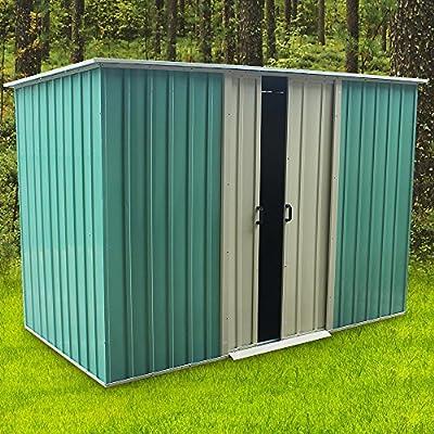 Newzeal cobertizo de jardín de Metal Apex Techo 1, 8 m x 1 ...