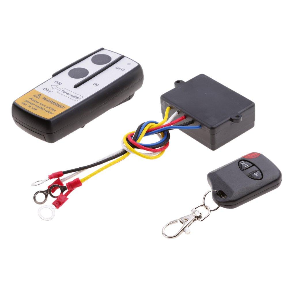 MagiDeal Telecomando Portatile Kit Di Controllo Vericello A Distanza Telecomando Senza Fili 12V SUV ATV