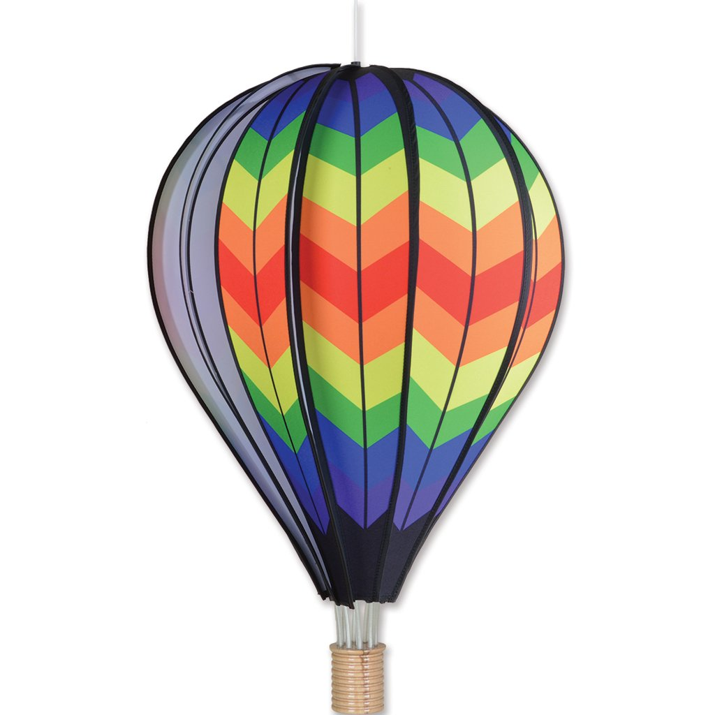 Premier Kites 26 in. Hot Air Balloon - Double Rainbow Chevron