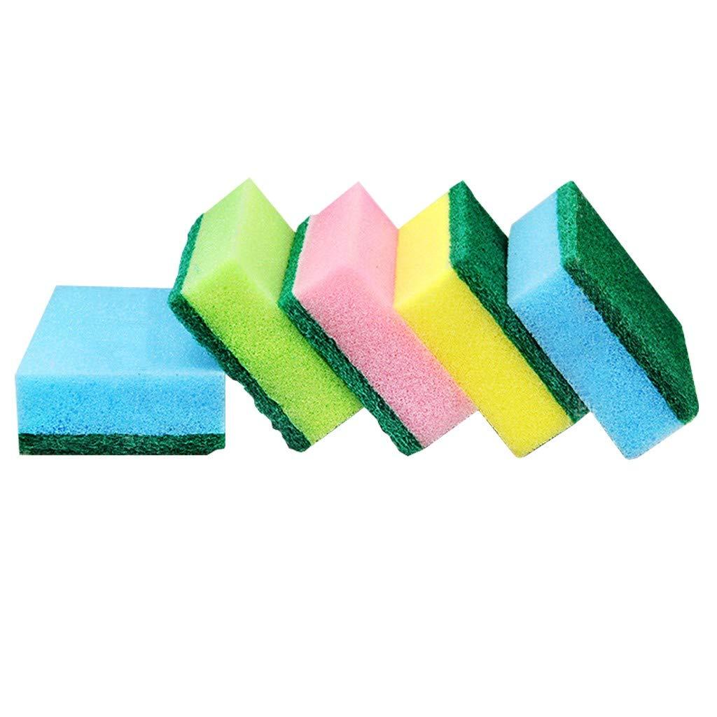 GXOK 5Pcs Multi-Function Useful Sponge Brush,Sponge Dishwashing Sponge Cleaning Brush Cleaning Antibacterial Tool for Kitchen