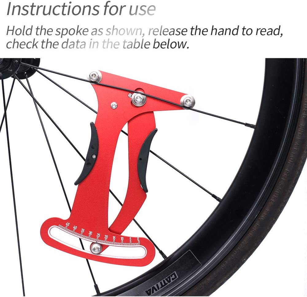Details about  /Bicycle Spokes Tension Meter Bike Cycling Repair Tool Measurement Gauges