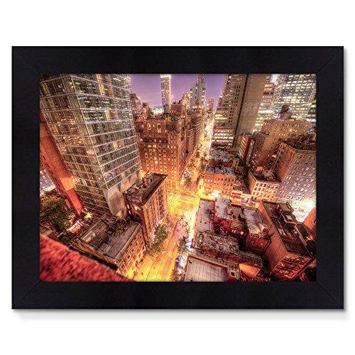 Quadro Moldura Preta 48x38cm Fotografia Gotham City