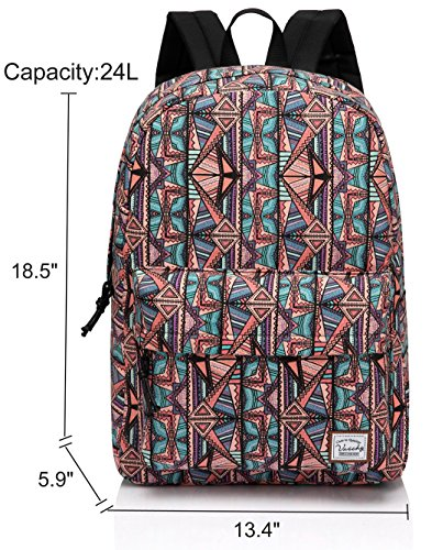 School Backpack for Teen Girls,Fashion Canvas Rucksack BookBag with Padded Laptop Sleeve by Vaschy (Image #1)