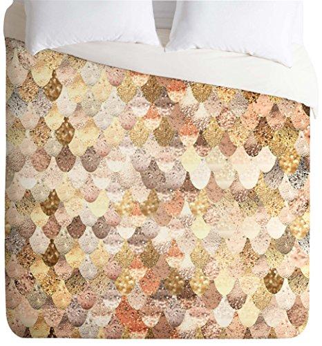 DENY Designs  Monika Strigel Really Mermaid Gold Duvet Cover