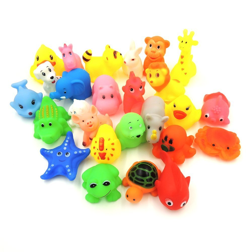 Amazon.com : XKX Mini Rubber Baby Bath Toy(26-Pack) : Baby