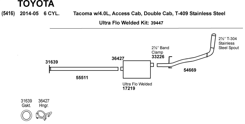 Dynomax 36427 Exhaust Hanger Automotive Jeep 304 Vacuum Diagram