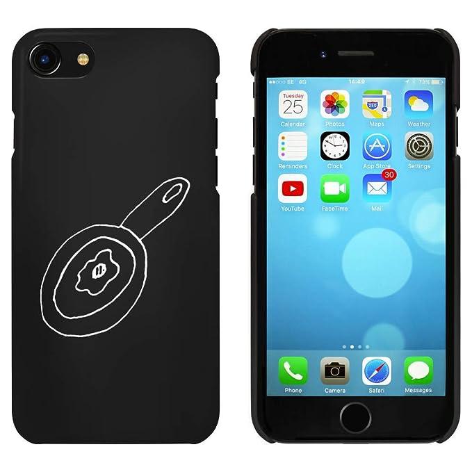 Azeeda Negro Huevo Frito Pan Funda para iPhone 7 (MC00077089 ...