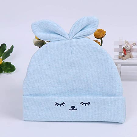 Nuevo Gorro de bebé Lindo Gorro de bebé recién Nacido Luna Llena Gorro de bebé Color algodón Gorro para niños Azul Claro 36cm Adecuado para 0-6 Meses: Amazon.es: Hogar