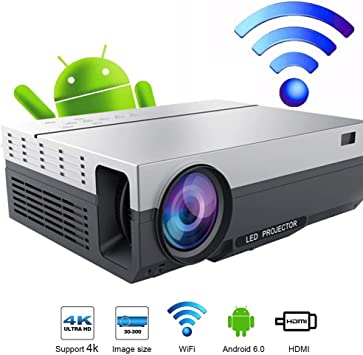 Zichen Proyector de Video LED Full HD Proyector con 5500 lúmenes ...