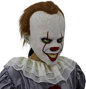 Asustadiza Cosplay Disfraz Máscara Halloween Máscara de látex ...
