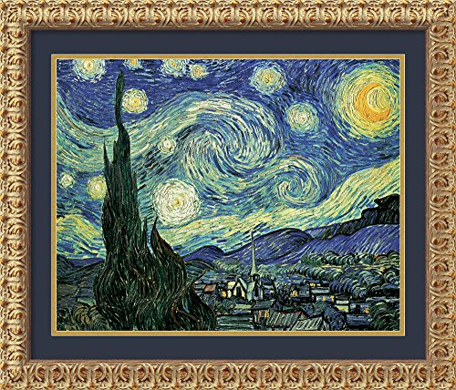 - Amanti Art Framed Home Wall Art Prints | The The Starry Night, June 1889 by Vincent Van Gogh | Traditional, Vintage Decor, Florentine Antique Gold Rococo Wood