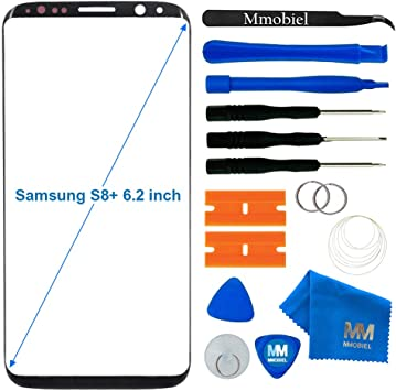 MMOBIEL Kit Reemplazo Pantalla de Vidrio Compatible con Samsung Galaxy S8 Plus G955 Series 6.2 Pulg (Negro) Inc Htas.: Amazon.es: Electrónica