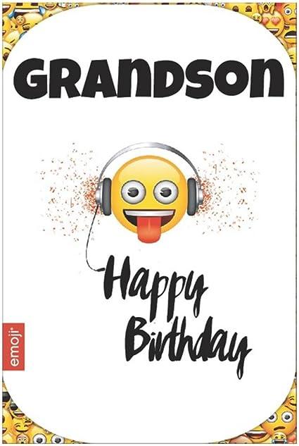 Emoji Smiley Langue Petit Fils Carte De Joyeux Anniversaire Amazon Fr Fournitures De Bureau