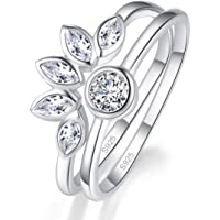AVECON Wedding Rings Bands Solitaire Engagement Rings for Women Anniversary Promise Ring Bridal Sets AAA Cubic Zirconia…