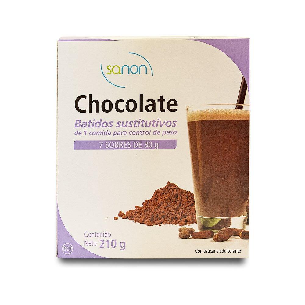 Sanon Batido Sustitutivo Chocolate - 2 Paquetes de 7 Unidades: Amazon.es: Salud y cuidado personal