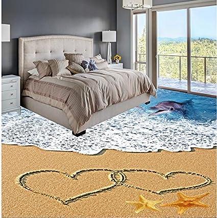 Hearty Floor 3d Wallpaper Wave 3d Floor Pvc Floor Wallpaper 3d Bathroom Wallpaper Waterproof Home Decoration Waterproof Floor Home Improvement Wallpapers