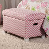 Coaster 405023 Home Furnishings Storage Bench, Pink/White