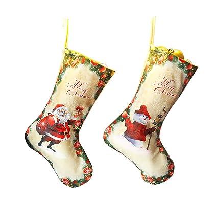 Lovely calcetines de Navidad medias de dibujos animados Conjunto de 2, Lujo clásico de Santa