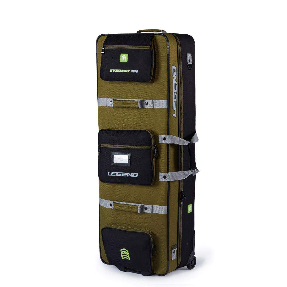 Legend Archery Hybrid Everest Roller Bow Cases Archery for Compound Bow Case - Strong Steel Metallic Structure - TSA & Airlines Approved - Sturdy Wheels & Lightweight (Green/Size 40)
