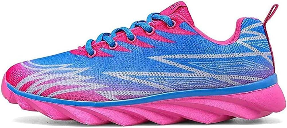 Femmes Chaussures De Course Sports Fitness Gym Athlétique Baskets Sneakers Poids Léger Bleu Rose