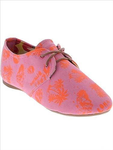 Iron FistAloha Bitches Oxford Flexi Flat - Zapatillas de ballet mujer, color Rosa, talla 36.5