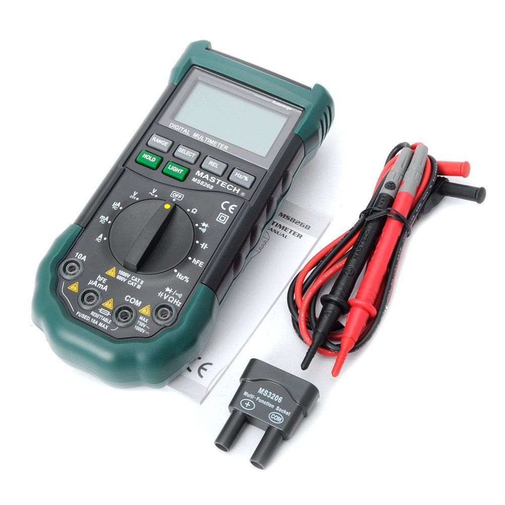 Mastech MS8268 Digital AC/DC Auto/Manual Range Digital Multimeter Meter by Mastech (Image #2)
