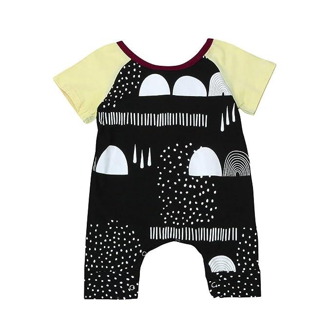 cece8ffa45a1 Amazon.com  Print MALLCAS Newborn Baby Boys Girls Short Sleeve ...