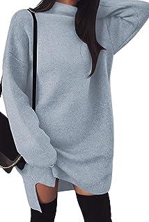 Vestito Maglina Donna Invernale Pullover Abito Dolcevita Vestitini Corti  Eleganti Abiti Autunno Inverno Manica Lunga Tunica 61fc15f44e9