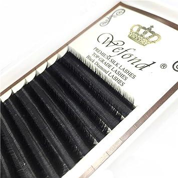 aef3b31b72c Amazon.com : Scala 3D Russia Volume 12 Rows 0.07mm D Curl Silk Individual Lash  Eyelash Extension Handmade Natural Long Individual Mink Lashes False Lash  ...