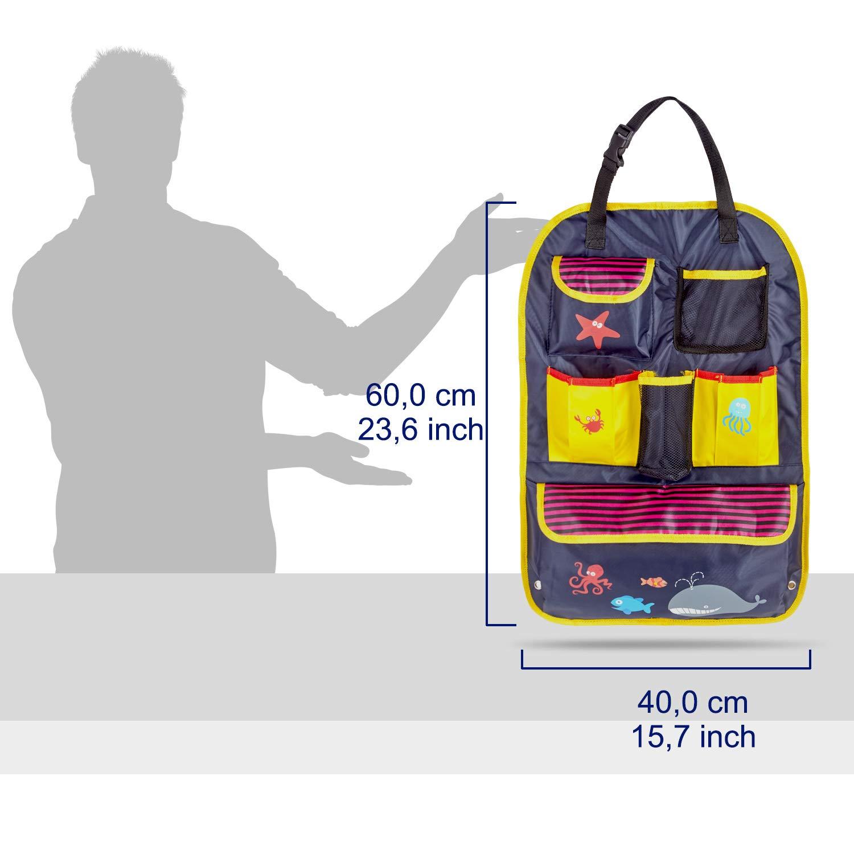 Wasserabweisend Bunt Bedruckt Mit Vielen Fächern Ideal ZuverläSsig Carto Rücksitztasche