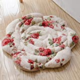 YOLI Plush rose seat cushion,Japanese style chair mat Non slip Window seat Chair pads for dining chairs-Z 45x45cm(18x18inch)