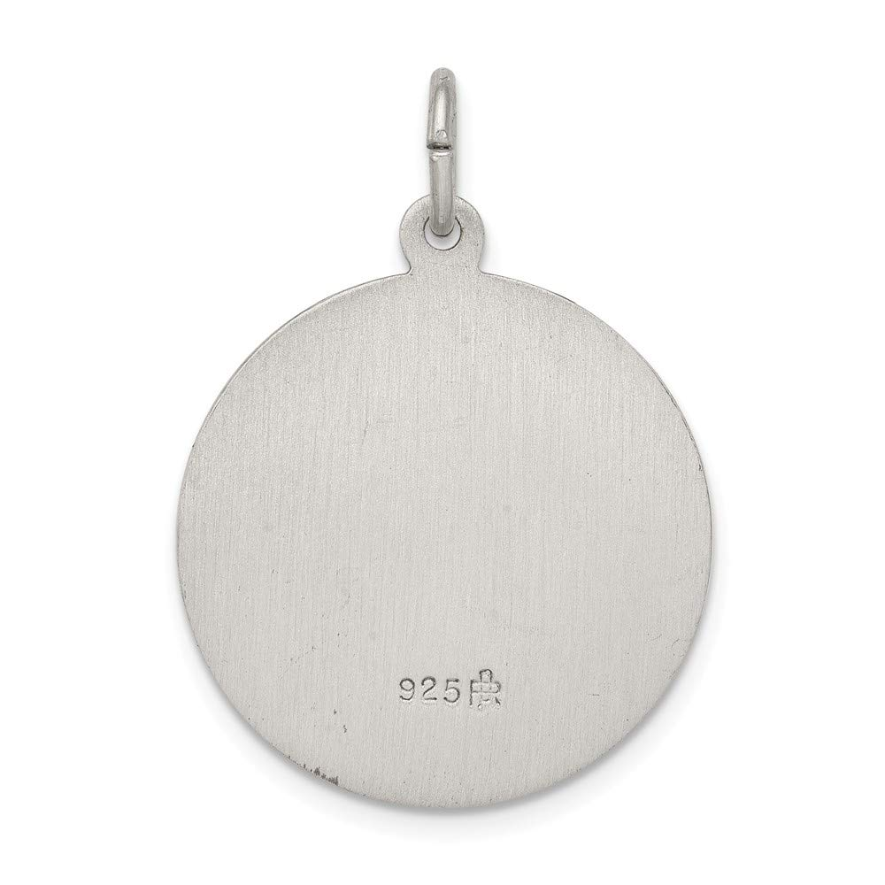 Jewel Tie Sterling Silver Antiqued Cross Pendant 1.22 in x 0.79 in