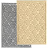 Pet Pagoda Premium Quality Extra Large Litter Trapping Mat for Scatter Control Featuring Durability, Comfort, Water & Urine Resistance & Easy Cleaning with Unique Attractive Design (Beige)