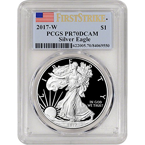 1993 Proof Silver Eagle (2017 W American Silver Eagle Proof (1 oz) First Strike $1 PR70 PCGS DCAM)