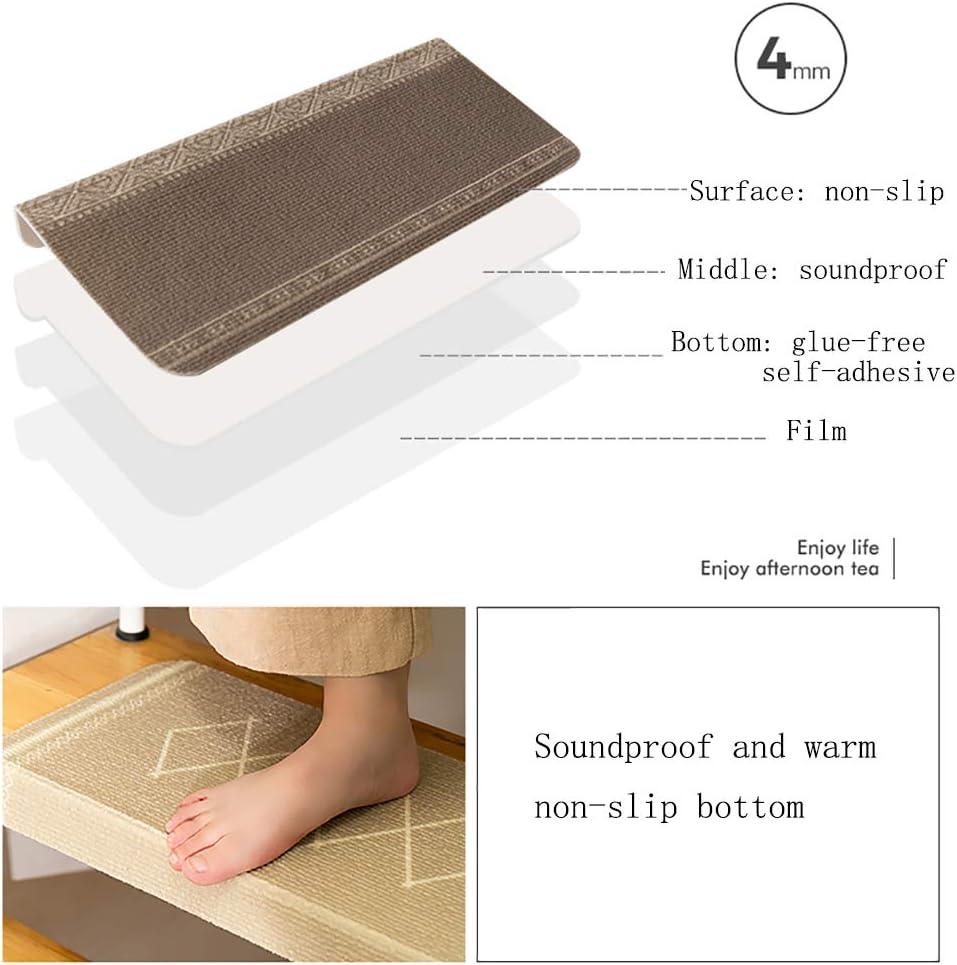 JQQJ Treppen Teppich Leicht Zu Reinigen Widerstandsf/äHige Bodenschutzmatte 15 ST/ÜCKE Selbstklebende rutschfeste Stair Cushion