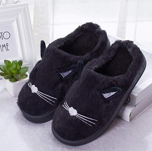 TAYIBO Forro algodón Zapatillas de casa Hombre,Zapatos de casa ...
