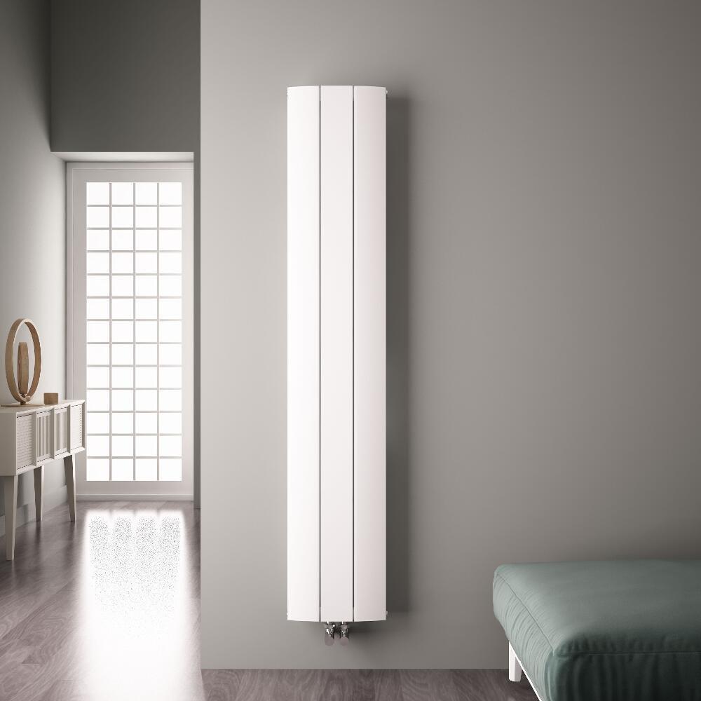 Radiateur Design Vertical en Aluminium Blanc 180 X 28 CM 1152 Watts Hudson Reed Aurora