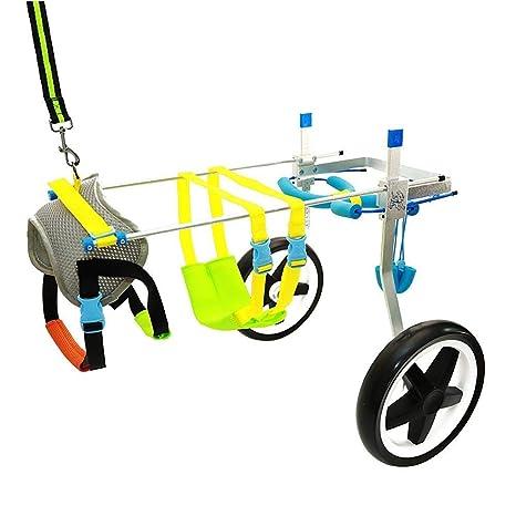 JKL Silla de ruedas para perros ajustable para mascotas - (2 ruedas) Ruedas del