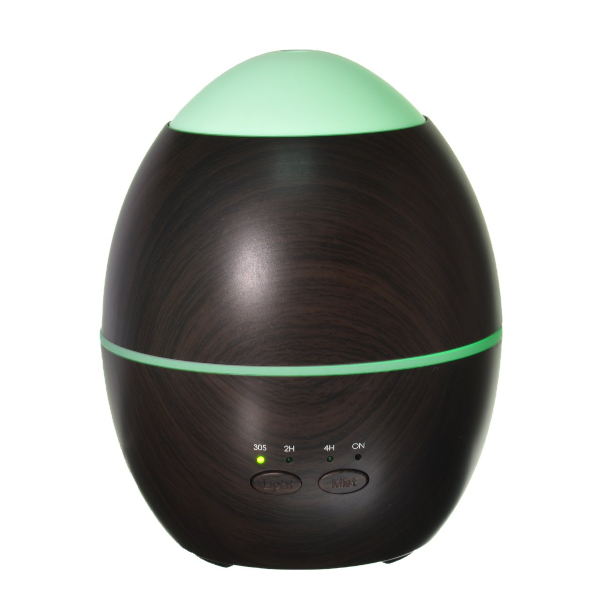 Aroma Diffuser,ELEGIANT Wood Grain Essential Oil Diffuser Humidifier-300ML Diffuser Cool Mist Humidifier Air Purifier for Home, Yoga, Office, Spa,Waterless Auto Shut-off and 7 LED Colors Black